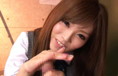 Rina kato. Brunette Rina Kato is blowjob and licking these balls