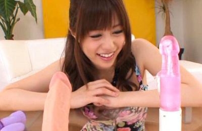 Rina rukawa. Slutty babe Rina amazed by the beauty of the sex toys