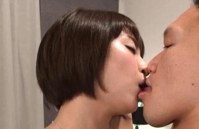 Shoko akiyama. Horny Shoko Akiyama gets bound with her lover and starts kissing