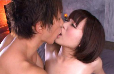 Mayu kamiya. Mayu Kamiya Asian is kissed while having hairy