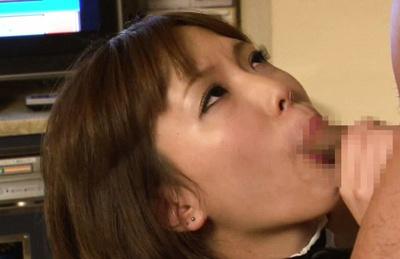 Minami oshiro. Nice Minami Oshiro is gulp this small pole in the bedroom