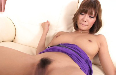 Kirara asuka. Lustful Kirara Asuka in enjoyment as she gets her hairy pussy fingerd