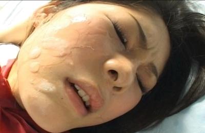Kureha Momiji Asian schoolgirl shows off her big tits and gets a hard cock