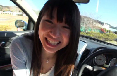 Rio ogawa. Lascivious Rio Ogawa starts cock sucking my huge cock right in the car