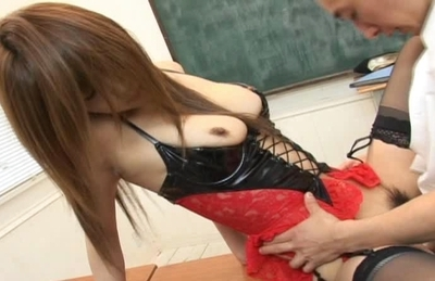 Ai Kurosawa spreads her legs for her favorite students hard cock