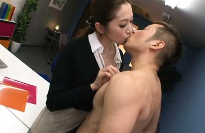 Asami ogawa. Super Asami Ogawa makes love in the office during lunch break