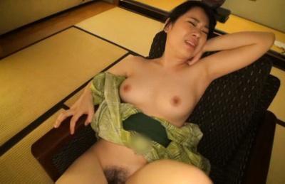 Riko komori. Riko Komori Asian with hot butt has hairy love box under dildo