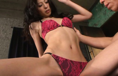 Ren aizawa. Ren Aizawa Asian with nasty tits feels dude tongue over her thong