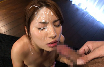 Nanami sakura. Lovely Nanami Sakura facialized excitingly after amazing cock sucking