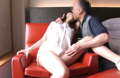 Ayu sakurai. Young Ayu Sakurai meets elder man and gets her hole wet very fast