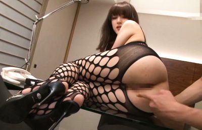 Ayu sakurai. Foxy Ayu Sakurai in stockings and high heels gets fingered appealing