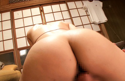 Reiko nakamori. Reiko Nakamori Asian with huge tits and large butthole rides dude mouth