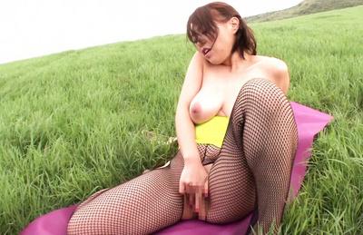 Reiko nakamori. Reiko Nakamori with nude cans rubs vagina