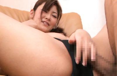 Kanan mizuki. Kanan Mizuki Asian rubs penis with cunt over nylon