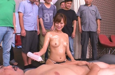 Kokone mizutani. Kokone Mizutani oiled Asian babe tits groped