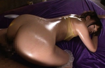 Mei hayama. Mei Hayama Asian with hot oiled booty gets fine