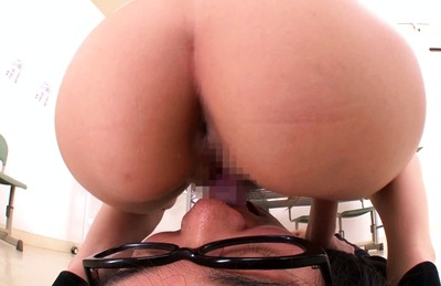 Yuna shiina. Yuna Shiina Asian with specs rides guy mouth