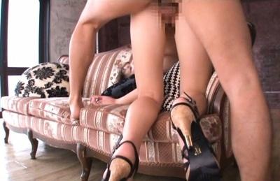 Nao fujimoto. Nao Fujimoto Asian curvy on heels gets doggy and rides joystick