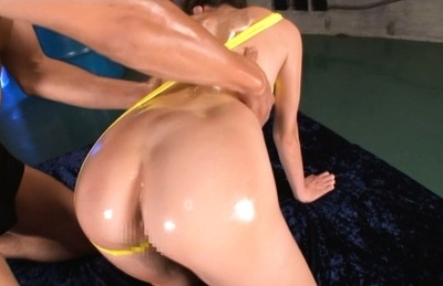Nao fujimoto. Nao Fujimoto Asian gets oil on huge boobs and on