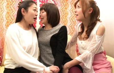 Ayumu sena. Ayumu Sena Asian and other two lascivious chicks kiss each other