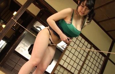 Sena minami. Sena Minami Asian with voluminous tits rubs pussy