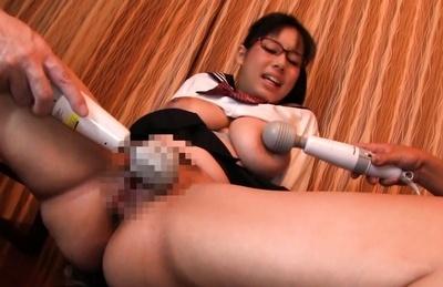 Shiori tsukada. Shiori Tsukada Asian gets vibrators on huge