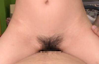 Arisa misato. Arisa Misato Asian rides cock with haired vagina