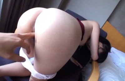 Hikari. Hikari Asian dame has twat rubbed on panty and have sexual intercourse with finger