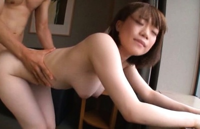 Amateur. Amateur Asian with nasty anus and boobs enjoys a lot of massive cock